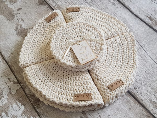 Crotchet Round Table Mats And Coasters