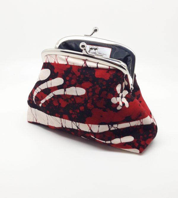 Red Batik Clutch Bag