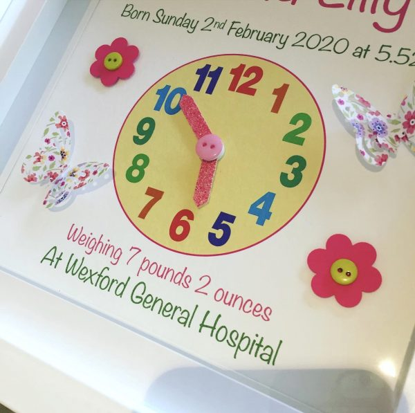 Baby Clock Print for Girl - 62F0EBD5 81B7 4F22 B9BD 3E36E487B478
