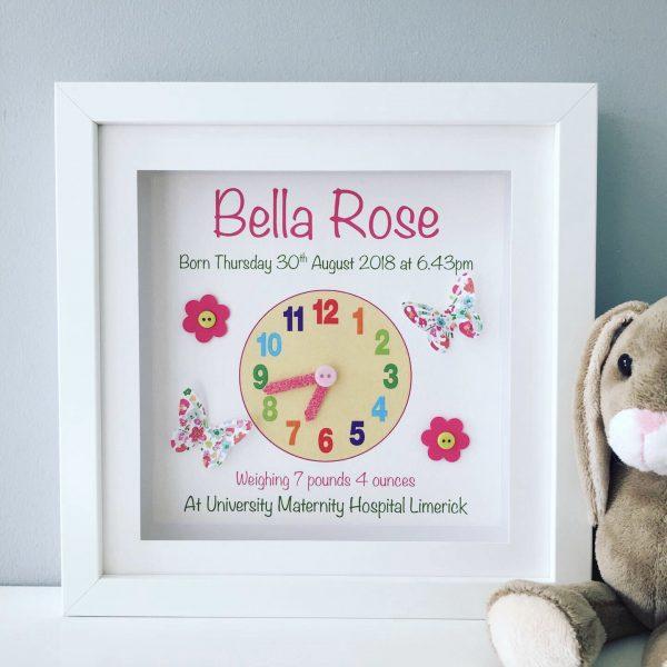 Baby Clock Print for Girl - 9AF6ED76 32C8 4F1E 89E7 78C5A90479A0