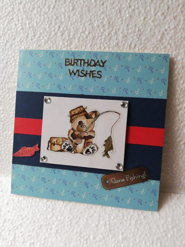 'Gone Fishing' Birthday Card