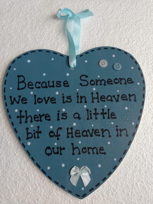 Blue Heart Memorial Plaque