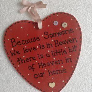 Red Heart Memorial Plaque