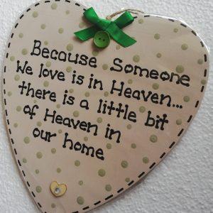 Greet Heart Memorial Plaque