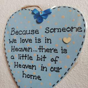 Baby Blue Heart Memorial Plaque