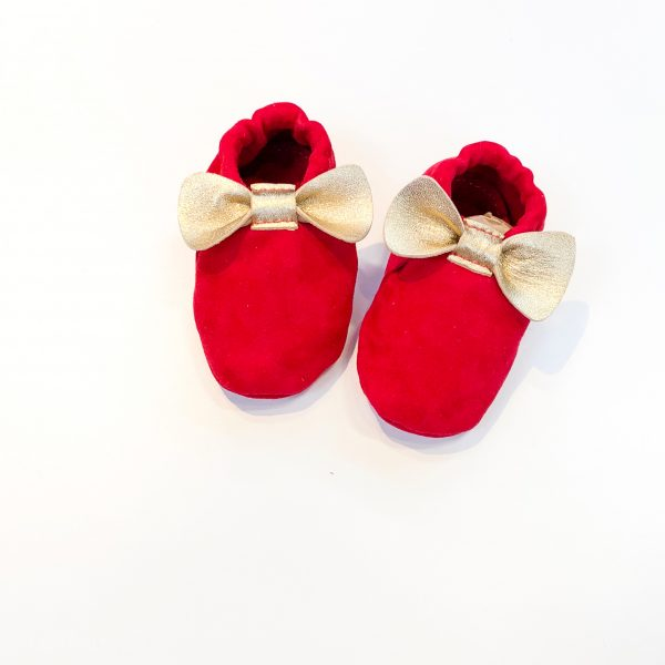 Leather Baby Moccasin Shoes with Bows - IMG 2112 scaled