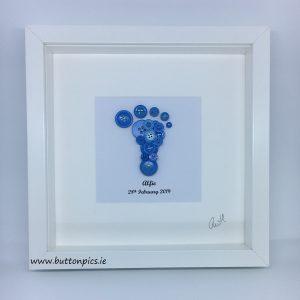 Blue Button Foot