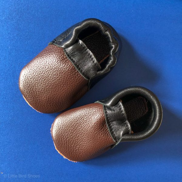 Leather Baby Moccasin Shoes (Girls & Boys) - IMG 5274 scaled