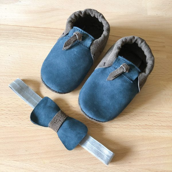 Leather Baby Moccasin Shoes (Girls & Boys) - IMG 5886 scaled