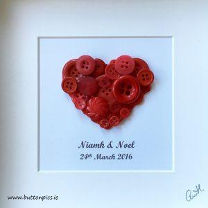 Love Heart Button Pic