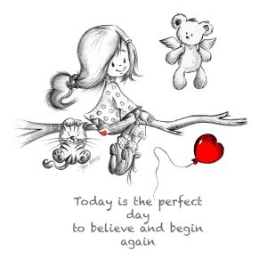 Today is the perfect day to begin again.... wall print