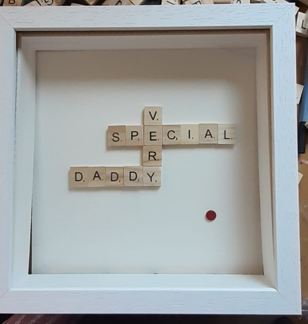 Scrabble Fathers Day Frame