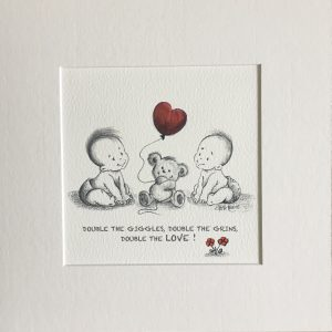 Double the giggles nursery print