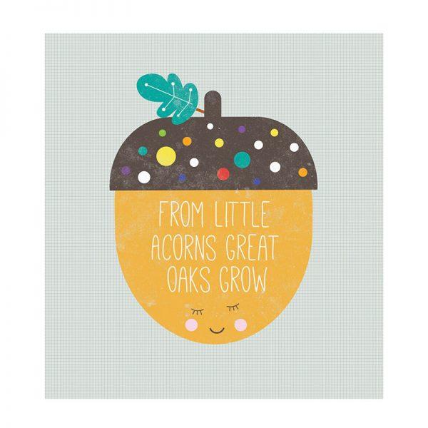 Little Acorns Card - teacher card acorn2