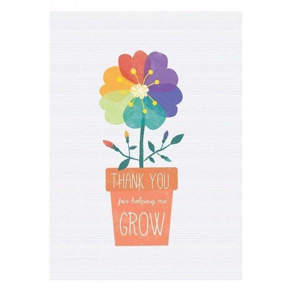 Thank You for Helping me to Grow - teacher card flowerpot2