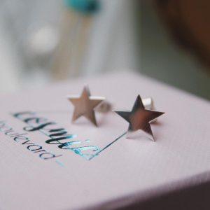 Delicate Star Studs Silver