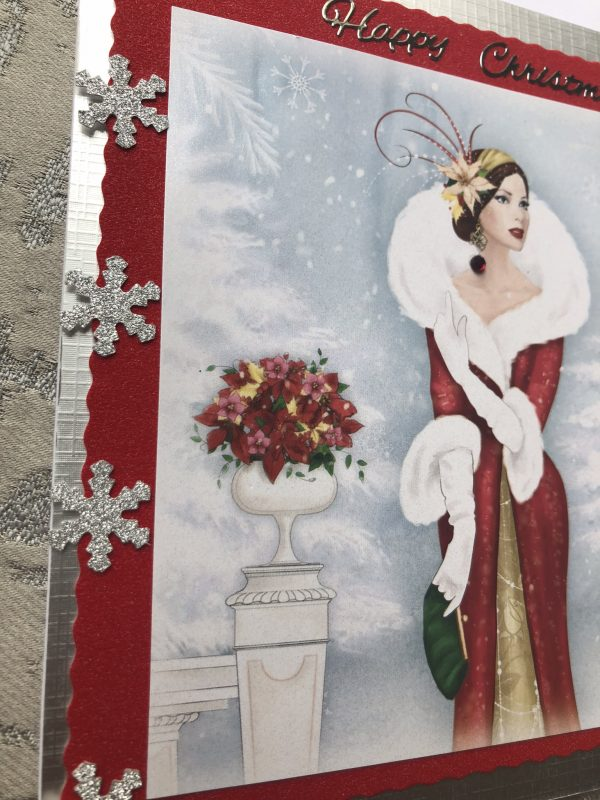 Lady in Red Christmas card