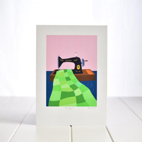 Fleur & Mimi Art Prints - A4 Singer