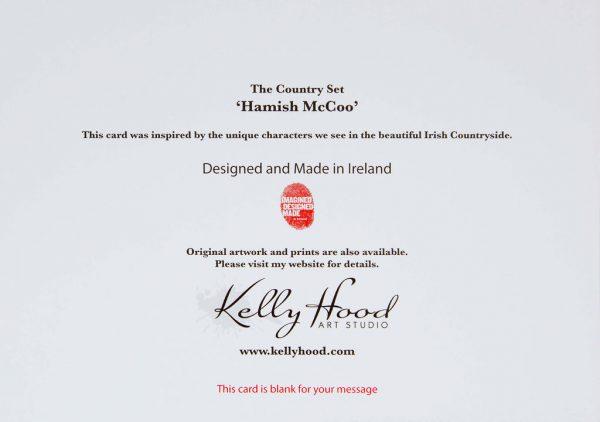 Hamish McCoo - Greeting Card - Kellyhood.com HAMISH GREETING CARD BACK