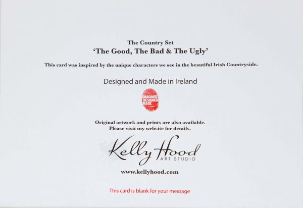 The Good, The Bad and The Ugly - Greeting Card - Kellyhood.com THE GOOD THE BAD THE UGLY Greeting CARD BACK
