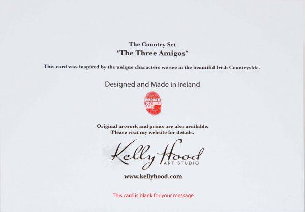 The Three Amigos - Greeting Card - Kellyhood.com THE THREEE AMIGOS BACK