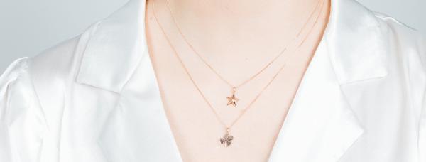Vega Star Rose Gold Necklace - RG