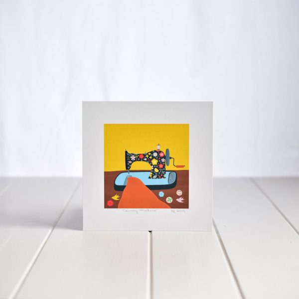 Fleur & Mimi - Square Art Print - Sewing Machine