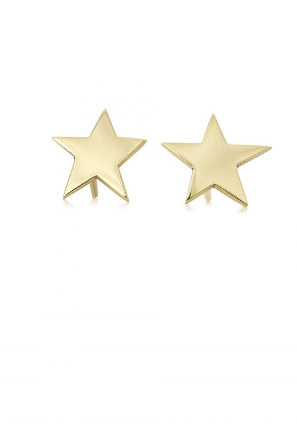 Delicate Star Studs Yellow Gold