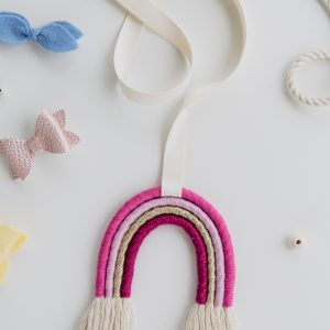 Rainbow Hair Bow & Clip Holder
