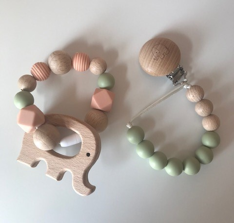 Soother Chain & Elephant Teether Set - Elephant Teether Set