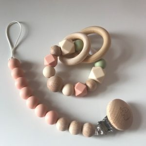 Soother Chain & Ring Teether Set