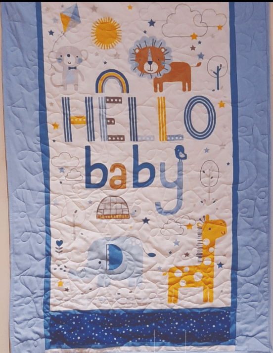 Flannel baby quilt - flannel2