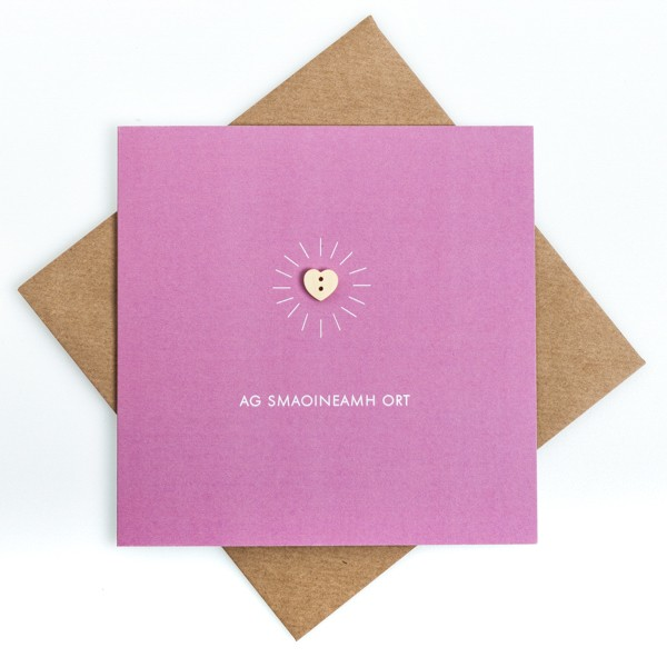 Craft Ag smaoineamh ort - Thinking of you - kpw 1151