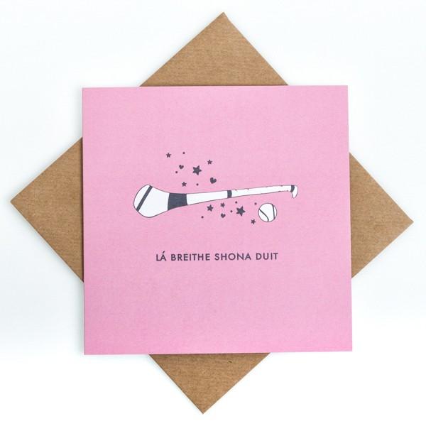 Lá Breithe Shona Duit - Camogie birthday card