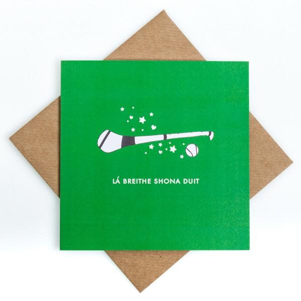 Lá Breithe Shona Duit - Hurling birthday card