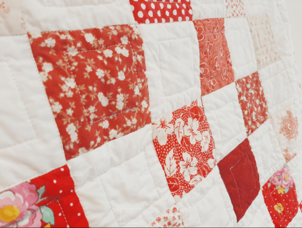Red and White Baby Quilt - red and white 2