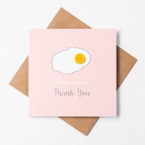 good egg thank you card