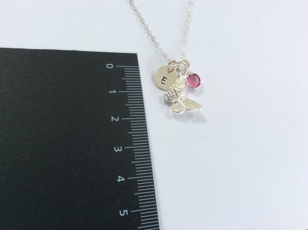 Butterfly Charm with Initial Disc and Birthstone - 105C46EE 6463 4561 845F A5CB0511B0DB scaled