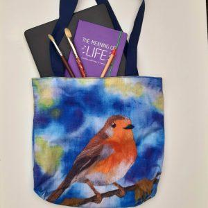 Robin Eco Cotton Tote Bag