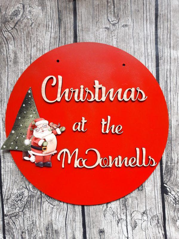 Christmas Santa Family Plaque - 20200917 100046 scaled