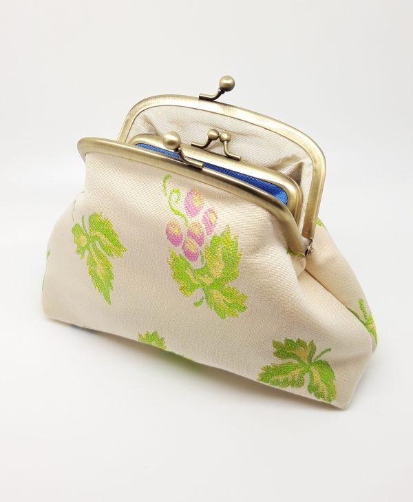 Pink Grape Clutch Bag