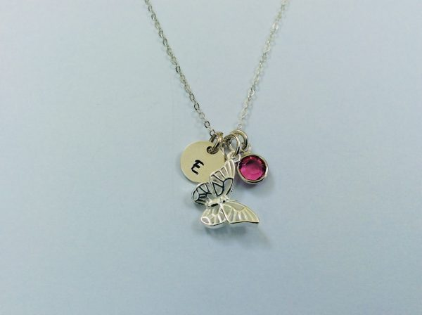 Butterfly Charm with Initial Disc and Birthstone - 31770975 C1A6 41D2 9CE2 4CAACAA1334E scaled