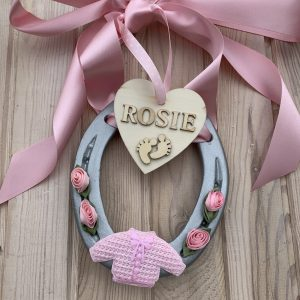 Personalised Baby Girl Horse Shoe