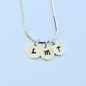 Dainty Tiny Silver Initials Necklace