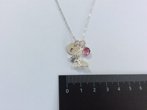 Butterfly Charm with Initial Disc and Birthstone - 7A354D28 0066 4943 920C E475DC6BC270 scaled