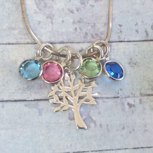 Tree of Life Birthstones Necklace