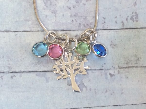 Tree of Life Birthstones Necklace