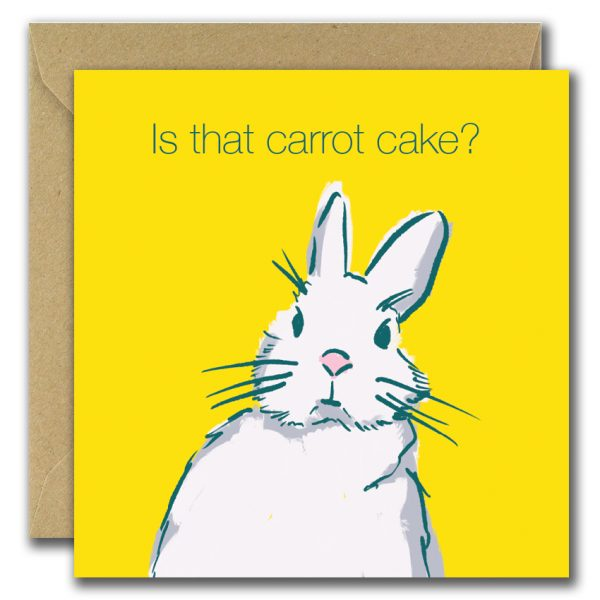 Is That Carrot Cake? birthday card