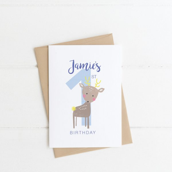 Personalised First Birthday Card - Custom First Bday Boy