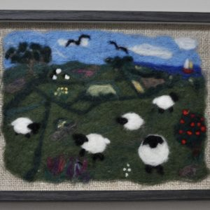 Tranquil Pastures Needlefelted Art
